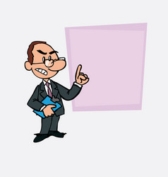 White businessman with glasses decided somewhat vector