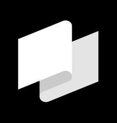 White flag defeat symbol white tape vector