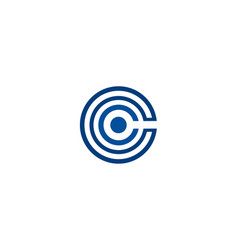 abstract c letter vector image