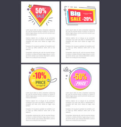 big sale -20 and -10 off vector image