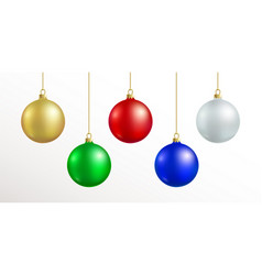 christmas decoration red blue silver gold vector image vector image