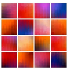 colored pixel backgrounds vector image