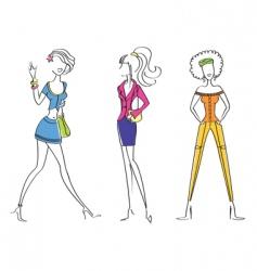 fashion girl22 vector image vector image
