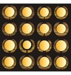 gold medal and laurels vector image