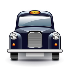 London taxi isolated on white vector image vector image