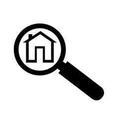 lupe search house analyzing icon vector image