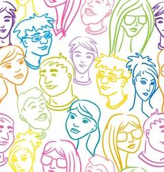 people pattern vector image