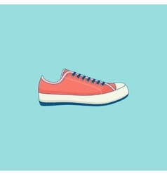 Sneakers line flat icon vector image vector image