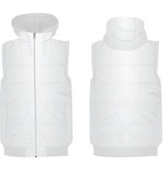 white puffer vest vector image