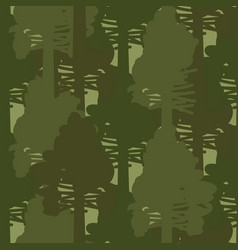 Camo forest olive woods seamless pattern vector