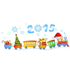 New Years train vector image vector image