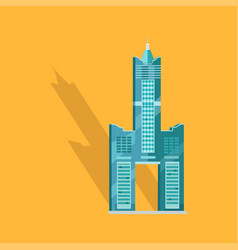sky tower skyscraper tanteks in taiwan graphic vector image vector image