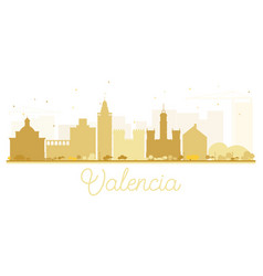 valencia city skyline golden silhouette vector image vector image
