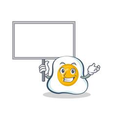 bring board fried egg character cartoon vector image