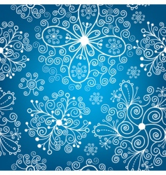 Christmas pattern snowflakes vector image vector image