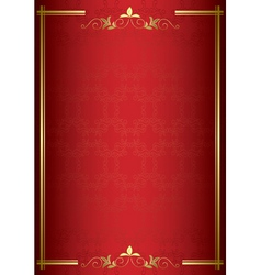 red elegant card with gold decorations vector image vector image