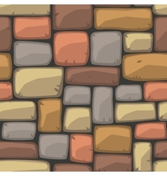 Seamless cartoon stone texture vector image vector image