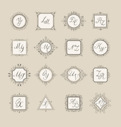 set luxury sign vector image vector image