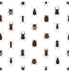 bugs and beetles simple seamless pattern eps10 vector image