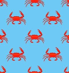 Crab pattern vector image