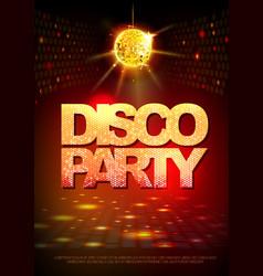 Disco ball background disco party poster neon vector