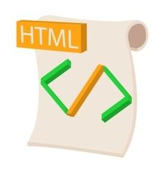 HTML icon cartoon style vector image