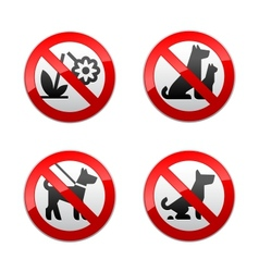 set prohibited signs - animals vector image vector image