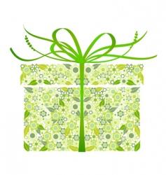 stylized gift vector image vector image