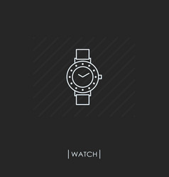 watch outline icon isolated vector image vector image
