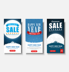 web set of vertical banners for christmas sales vector image