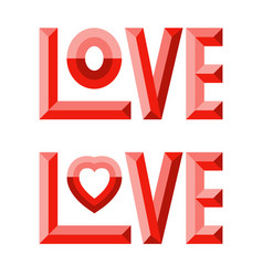 3d love composition vector image