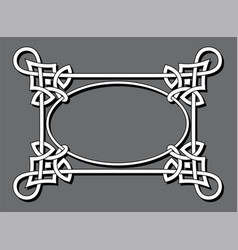 Abstract celtic frame vector