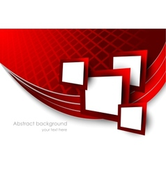 Abstract red background wtih squares vector image