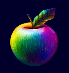 Apple abstract multi-colored pop-art image vector