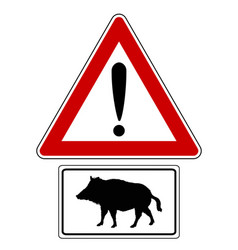 Attention sign with optional label boar vector