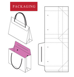 Bag packaging template for wearing vector
