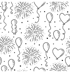 Balloons seamless pattern vector