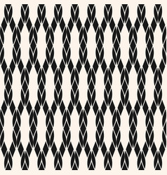 Black and white geometric rope seamless pattern vector