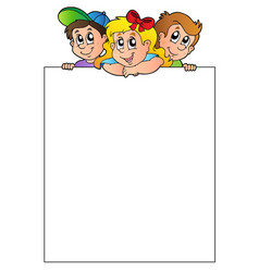 Blank frame with lurking children vector