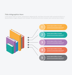 books education isometric syle 3d infographic vector image