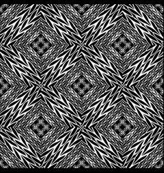 Braided black and white seamless pattern vector