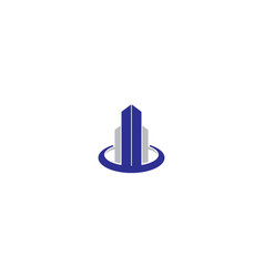building and architect logo icon vector image