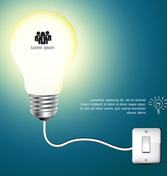 Business Infographics light bulb idea vector image