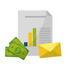 Business office and marketing vector