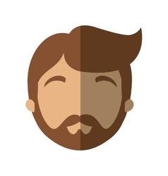 Character face man bearded hairstyle shadow vector