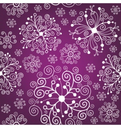 Christmas pattern snowflakes vector image