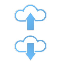 Cloud data Upload vector image