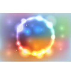 Colorful Abstract Glowing Lights Background vector