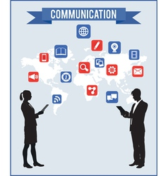 concept of communication vector image