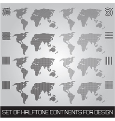 continents vector image